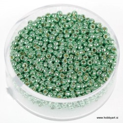 Miyuki metalne perle 2,2mm, Sv. zelena 9g.
