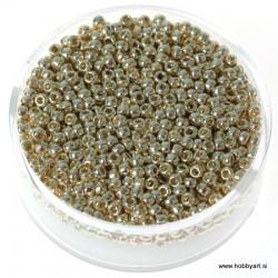 Miyuki metalne perle 2,2mm, Srebrno zlata 9g.