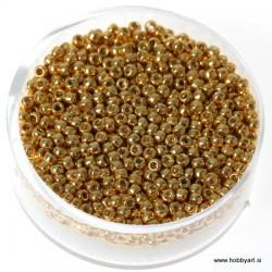 Miyuki metalne perle 2,2mm, Zlata 9g.