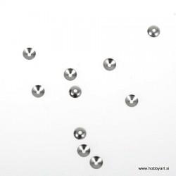 Metalna kapa za perle 4mm, Platinaste b. 12 kosov
