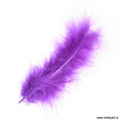 Marabu perje Purple dolžina ca 10cm, 15 kosov