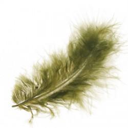 Marabu perje Olivna dolžina ca 10cm, 15 kosov