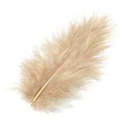 Marabu perje Bež dolžina ca 10cm, 15 kosov