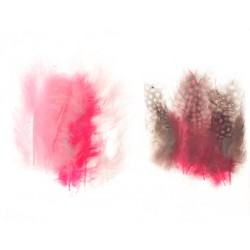 Mešano perje Marabu-Guinea 6 x 3kos, Deklice