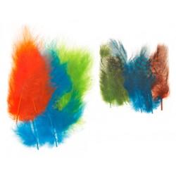 Mešano perje Marabu-Guinea 6 x 3kos, Neon b.