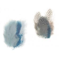 Mešano perje Marabu-Guinea 6 x 3kos, Ocean b.