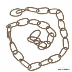 Svilena verižica cca 13 x 22mm, Srebrna 0,5m