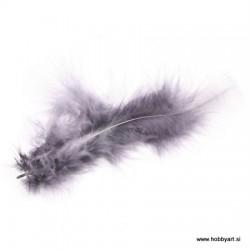 Marabu perje Siva dolžina ca 10cm, 15 kosov