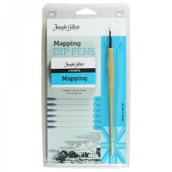 Joseph Gillott Mapping pens komplet