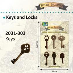 Vintage okrasni ključki