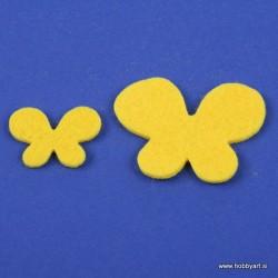 Metuljči iz filca 3 - 5cm, Rumena, 12 kosov