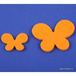 Metuljči iz filca 3 - 5cm, Oranžna, 12 kosov