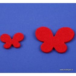 Metuljči iz filca 3 - 5cm, Rdeča, 12 kosov