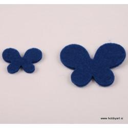 Metuljči iz filca 3 - 5cm, Temno modra, 12 kosov