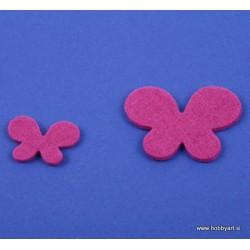 Metuljči iz filca 3 - 5cm, Vijolična, 12 kosov