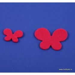 Metuljči iz filca 3 - 5cm, Ciklamna, 12 kosov