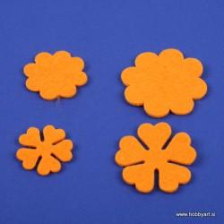 Rožice iz filca 35 - 55mm, Oranžne, 10 kosov