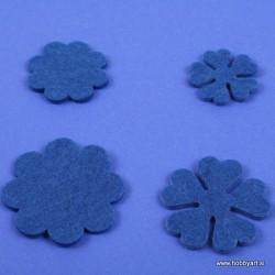 Rožice iz filca 35 - 55mm, Modra, 10 kosov