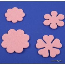 Rožice iz filca 35 - 55mm, Roza, 10 kosov