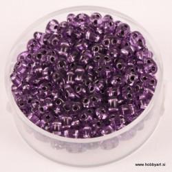 Dvojne perle 2,5 x 5mm, Sr. sredica Vijolična 12g.