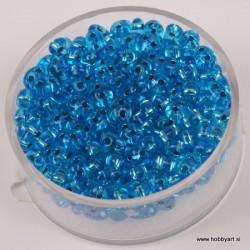 Dvojne perle 2,5 x 5mm, Sr. sredica Capri m. 12g.