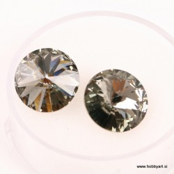 Swarovski Rivoli 14mm, Black daimond, 2 kosa