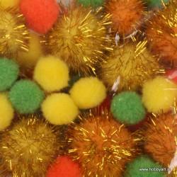 Pom Pom set Velikonočne b. 2, 2.5, 3.5cm, 50 kosov