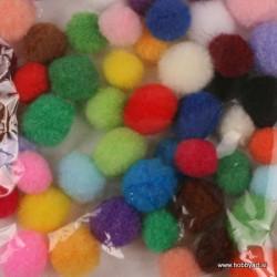 Pom Pom set Mešane barve 1,5, 2cm 48 kosov