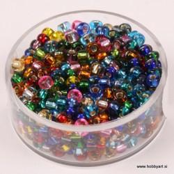 Perle Rocailles 3,5mm sr. sredica Mešane, 17g