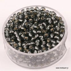 Perle Rocailles 3,5mm sr. sredica Siva, 17g