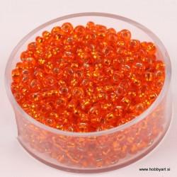 Perle Rocailles 3,5mm sr. sredica Oranžne, 17g