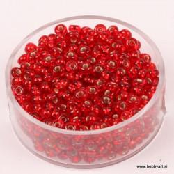 Perle Rocailles 3,5mm sr. sredica Rdeče, 17g