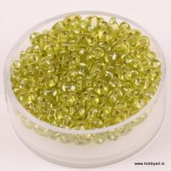 Dvojne perle 2,5 x 5mm, Sr. sredica Olivne 12g.