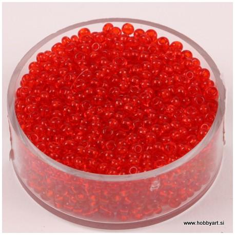Perle Rocailles prosojne 2,6mm, Oranžne 17g