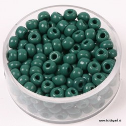 Perle Rocailles neprosojne 4,5mm Temno zelena, 17g