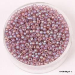 Miyuki perle 2,2mm, tran. mat Sv. amethyst mavrična 12g.