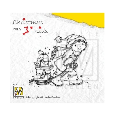 Nellies štampiljka Christmas kids 002 š. 80 x v.70mm