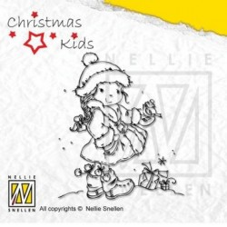 Nellies štampiljka Christmas kids 003 š. 65 x v.75mm