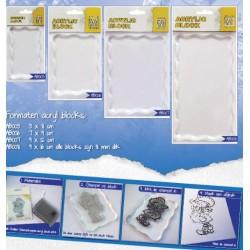 Akrilni bloki za štampiljke različnih velikosti