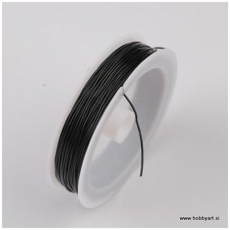 Elastični laks 0,8 x 8m, Črna