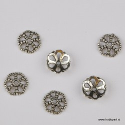 Kapica za perle 12mm, Platinaste b. 6 kosov