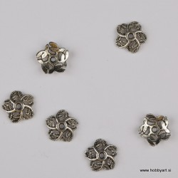 Kapica za perle 10mm, Platinaste b. 6 kosov