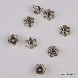 Kapica za perle 9mm, Platinaste b. 8 kosov
