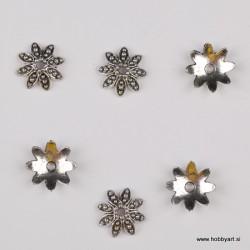 Kapica za perle 14mm, Platinaste b. 6 kosov