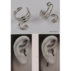 Nastavek za uho, 2 kosa Platinaste b.