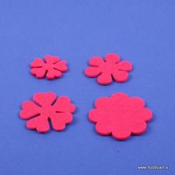 Rožice iz filca 35 - 55mm, Ciklama, 10 kosov