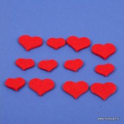 Srčko iz filca 2 velikosti 25mm in 35mm, 12 kosov