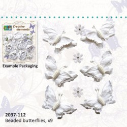 Papirni metuljčki cca 50mm 6 kos, Roža 15mm 3 kos