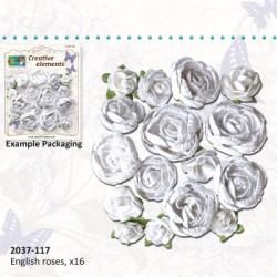 Vrtnice Bele 10 do 30mm, 16 kosov