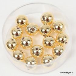 Metalne perle Zlata A kvaliteta 8mm, 15 kosov